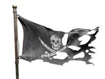 Bandeira rasgada rasgada Fotos de Stock