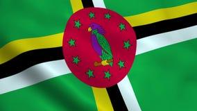 Bandeira realística de Domínica ilustração stock