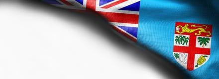Bandeira realística de Fiji no fundo branco imagem de stock royalty free