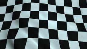 Bandeira realística do verificador de Ultra-HD que acena no vento ilustração do vetor