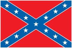 Bandeira rebelde confederada Imagens de Stock Royalty Free