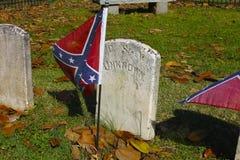 Bandeira rebelde na sepultura de soldado desconhecido Fotos de Stock Royalty Free