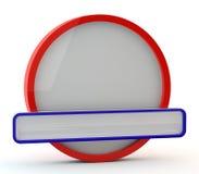 Bandeira redonda Imagens de Stock