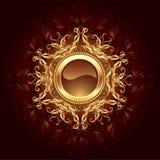 Bandeira redonda da jóia ilustração royalty free
