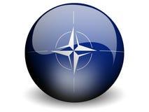Bandeira redonda da OTAN Fotos de Stock