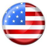 Bandeira redonda da tecla Fotografia de Stock Royalty Free