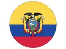 Bandeira redonda de Equador ilustração do vetor