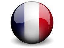 Bandeira redonda de France Imagens de Stock Royalty Free