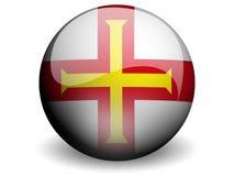 Bandeira redonda de Guernsey Fotografia de Stock Royalty Free