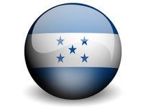 Bandeira redonda de Honduras Imagem de Stock