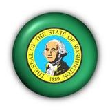 Bandeira redonda do estado dos EUA da tecla de Washington ilustração royalty free