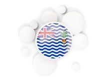A bandeira redonda do território de Oceano Índico britânico com círculos tamborila ilustração royalty free