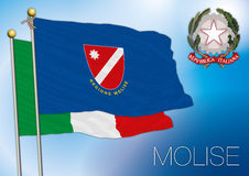 Bandeira regional de Molise, Italia Fotos de Stock Royalty Free
