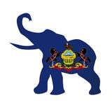 Bandeira republicana do elefante de Pensilvânia Fotografia de Stock Royalty Free