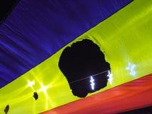 Bandeira revolucionária romena Imagem de Stock Royalty Free