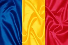 Bandeira romena - Romênia foto de stock