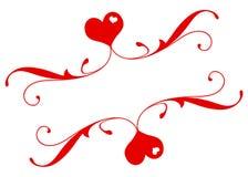 Bandeira romântica Fotos de Stock Royalty Free