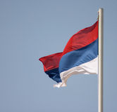 Bandeira sérvio Fotografia de Stock