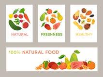 Bandeira saudável comer ilustração stock