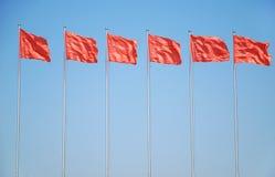Bandeira seis vermelha Fotografia de Stock