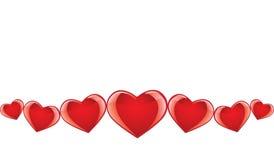 Bandeira sem emenda do coração ilustração stock
