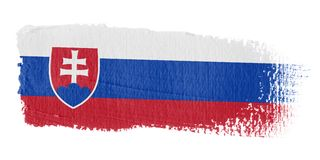 Bandeira Slovakia do Brushstroke Fotografia de Stock