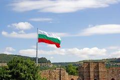 Bandeira sobre Trapezista Fotos de Stock Royalty Free