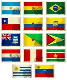 Bandeira Stamps_South América Imagem de Stock Royalty Free