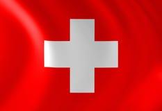Bandeira suíça ilustração royalty free