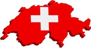 Bandeira suíça estilizado Fotos de Stock