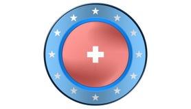 Bandeira suíça, ilustração Imagem de Stock Royalty Free