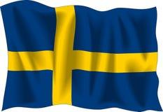 Bandeira sueco Fotografia de Stock