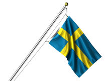 Bandeira sueco isolada ilustração royalty free