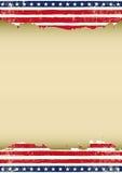 Bandeira suja americana vertical Fotos de Stock