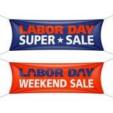 Bandeira super da venda do Dia do Trabalhador ilustração royalty free