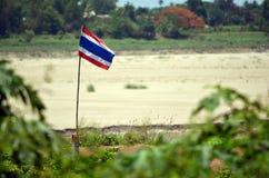 Bandeira tailandesa Fotos de Stock Royalty Free