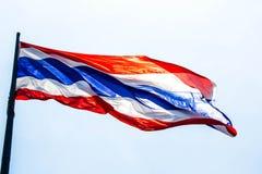 Bandeira tailandesa Fotografia de Stock