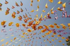 Bandeira tailandesa da oração fotos de stock royalty free