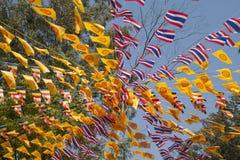 Bandeira tailandesa da oração fotografia de stock