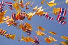 Bandeira tailandesa da oração fotografia de stock royalty free