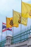 Bandeira tailandesa do rama do nacional e do chakri Foto de Stock