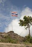 Bandeira tailandesa no monte foto de stock