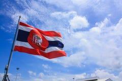 Bandeira tailandesa real da marinha fotos de stock