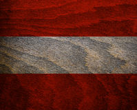 Bandeira Textured madeira de Áustria Imagem de Stock Royalty Free