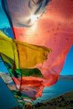 Bandeira tibetana da oração Imagem de Stock Royalty Free