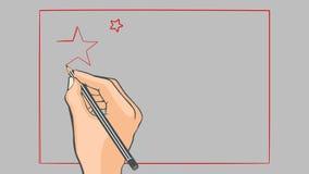 Bandeira tirada mão da animação de China ilustração stock
