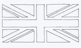 bandeira tirada mão do textur de Reino Unido (Reino Unido) aka Union Jack ilustração do vetor