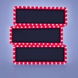 Bandeira três retro no fundo vazio Imagens de Stock