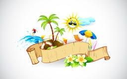 Bandeira tropical Imagens de Stock