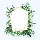 Bandeira tropical com folhas de palmeira verdes no fundo branco Cartaz sazonal no estilo na moda do corte do papel Molde do proje ilustração royalty free